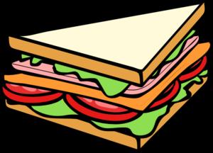 Half sandwich clipart free images.
