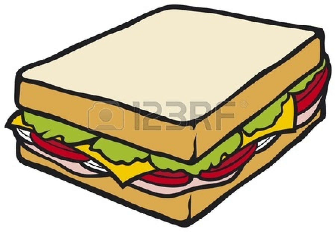 Cheese sandwich clipart.