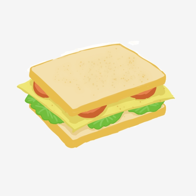 Sandwich Bread Vegetable Illustration, Vegetables, Sandwich.