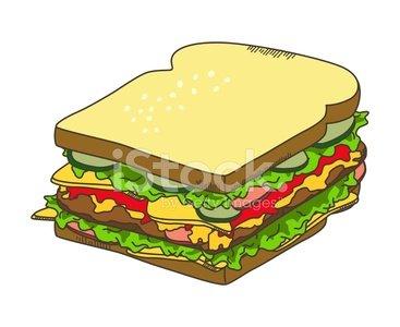 Sandwich Bread Breakfast premium clipart.