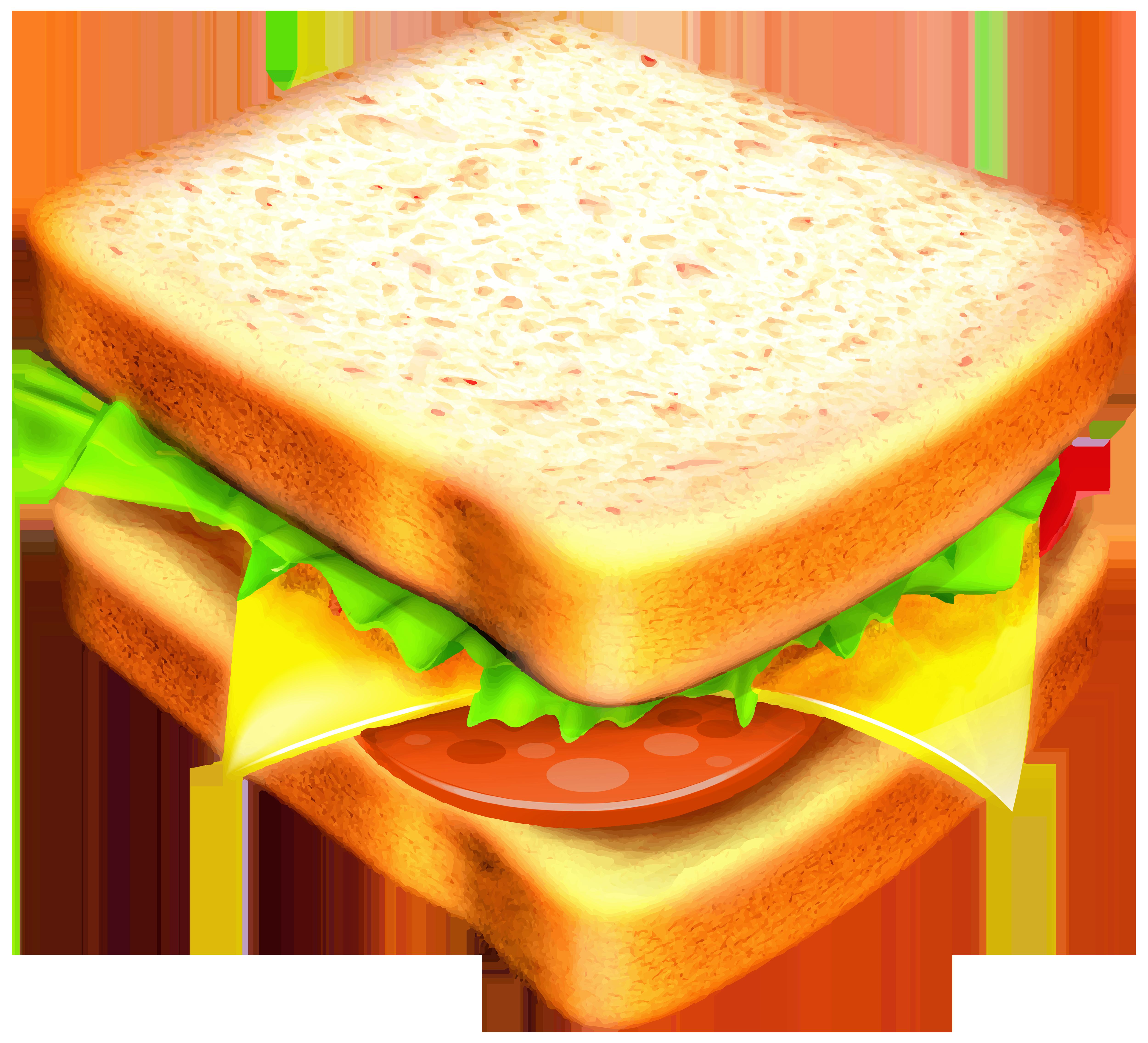 Sandwich Transparent PNG Clipart Image.
