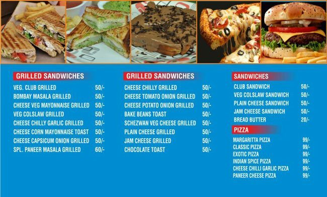 Sandwich Express Menu, Menu for Sandwich Express, Koregaon Park.