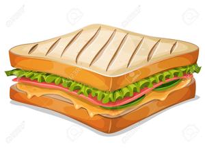 Ham Cheese Sandwich Clipart.