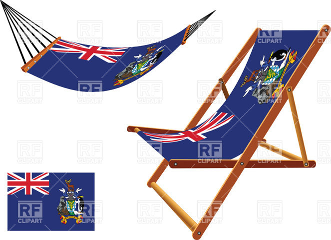 South Georgia and South Sandwich islands hammock and deck chair.