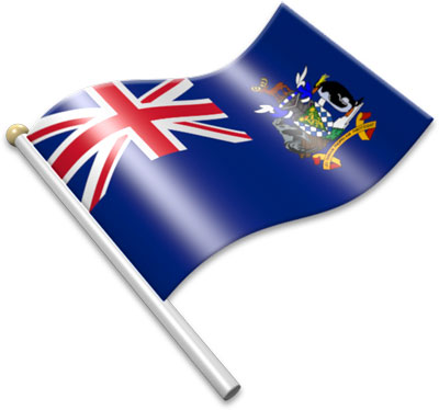 Flag Icons of South Georgia and the South Sandwich Islands.