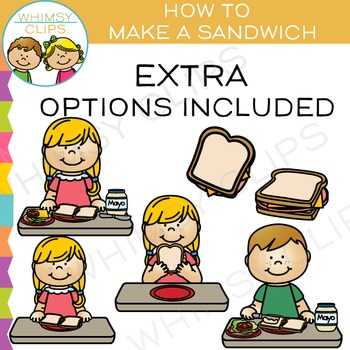 How to Make a Sandwich Lunch Clip Art.