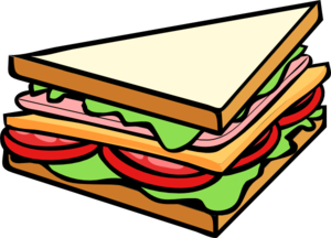 Healthy Sandwich Clipart #1.