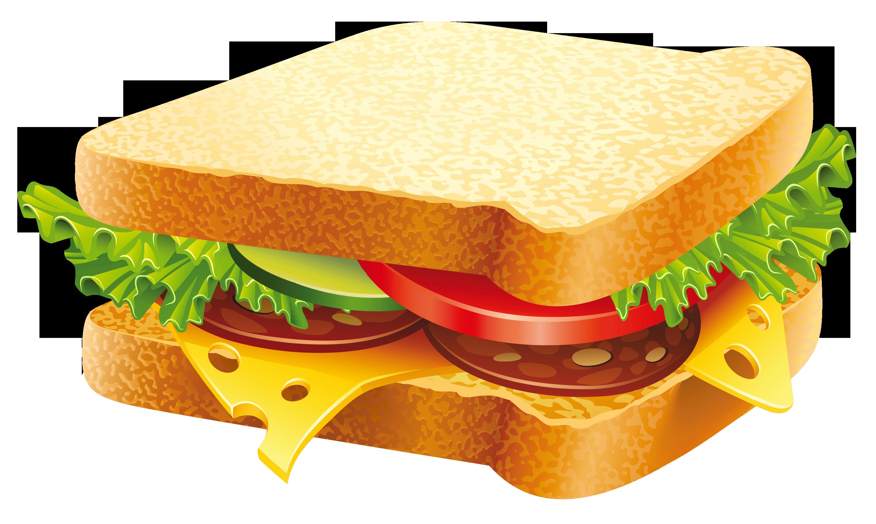 Sandwich PNG Clipart Image.