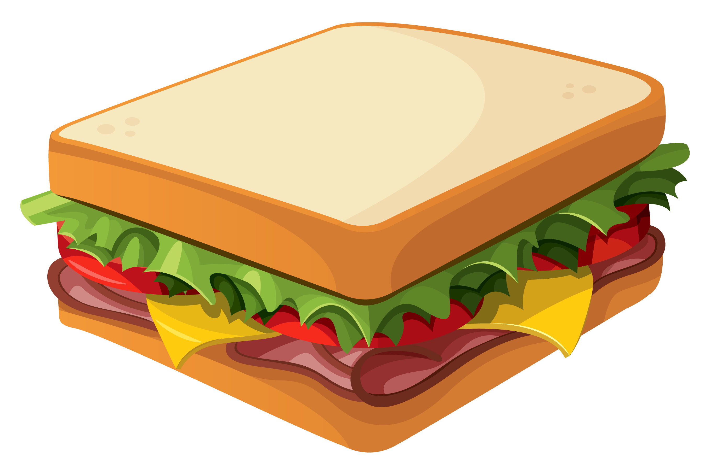 Sandwich PNG Clipart Vector Picture.