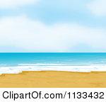 Sandy beach clipart clipground cartoon of a white sandy beach royalty free vector clipart voltagebd Choice Image