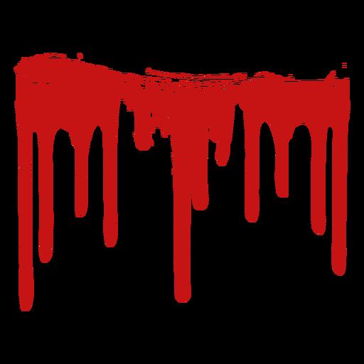 Silhueta de mancha de tinta de sangue.