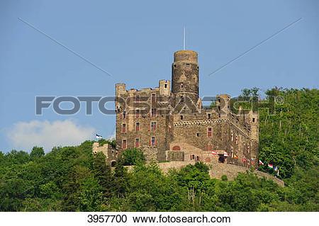 Stock Photography of Burg Maus, Sankt Goarshausen, Germany 3957700.