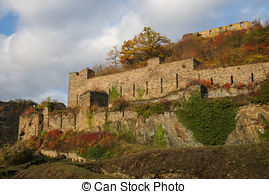 Stock Photographs of Cutts Castle, St. Goar, Rhineland.