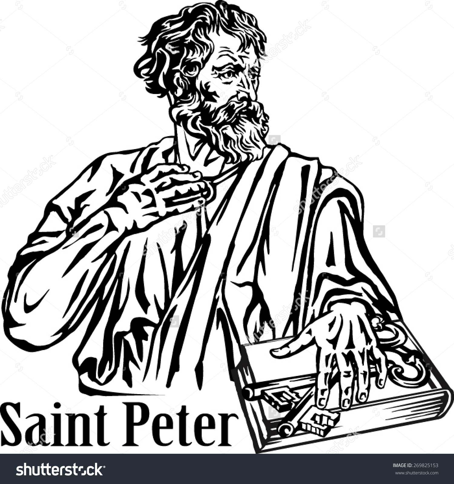St peter clipart.