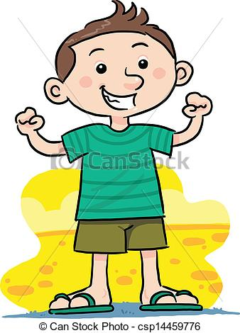 Vector Clip Art of Happy Boy.