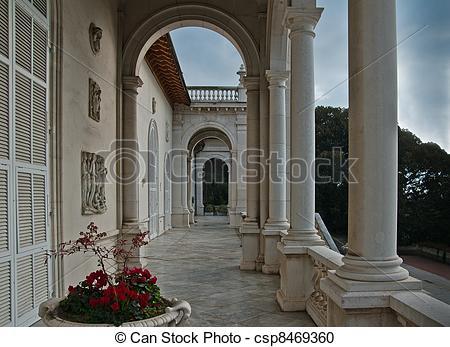 Stock Photography of Villa Ormond in Sanremo.