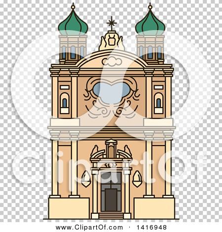 Clipart of a Sketched Italian Landmark, Church of the Madonna.