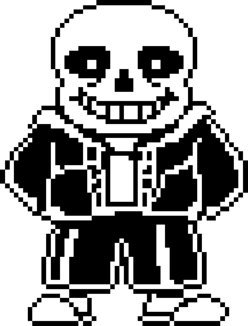 Undertale Sans transparent PNG.