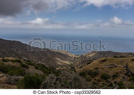 Stock Image of Santa Catalina Island Coastal View.