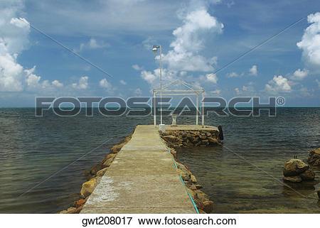 Picture of Jetty in the sea, Providencia, Providencia y Santa.