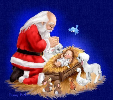 Santa and baby jesus clipart 3 » Clipart Portal.