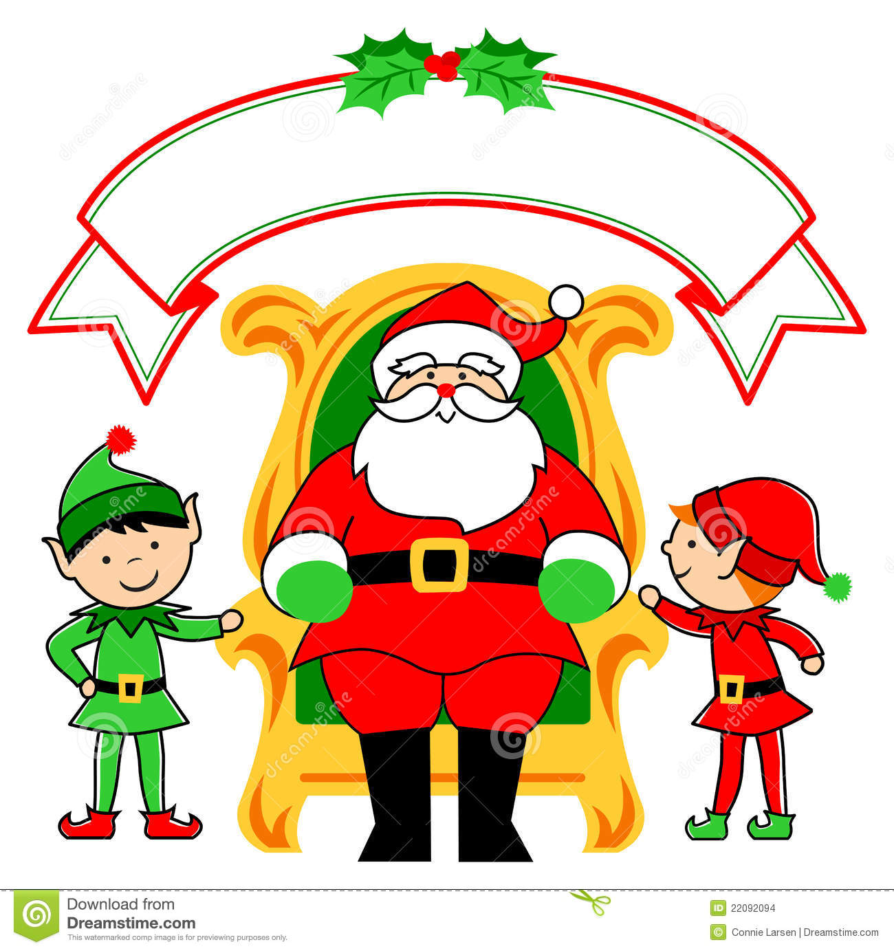 Christmas Santa Elf Clip Art 3 Stock Photos, Images, & Pictures.