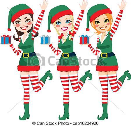 Santas Elves Clipart.