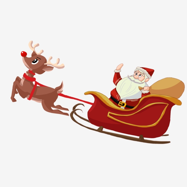 Santa Sleigh Png, Vector, PSD, and Clipart With Transparent.