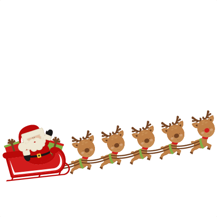Santa and sleigh clipart clipart images gallery for free.