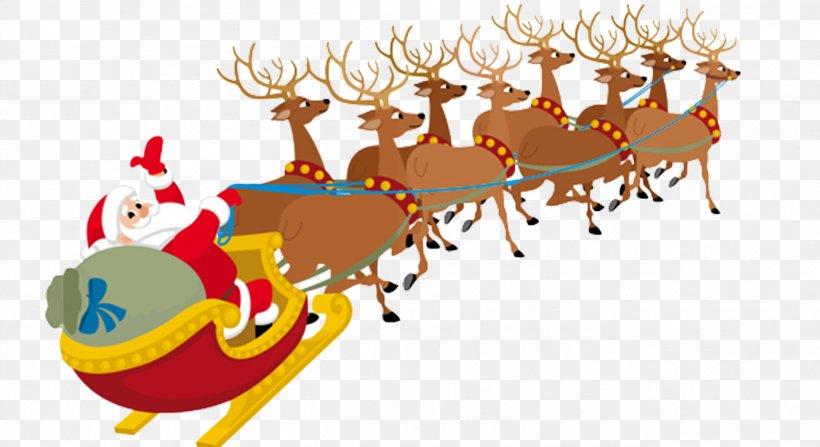 Santa Claus Village Santa Clauss Reindeer Clip Art, PNG.