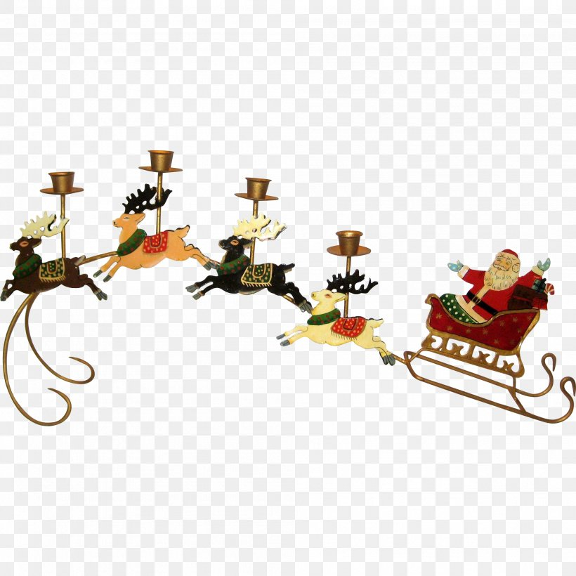 Santa Claus\'s Reindeer Santa Claus\'s Reindeer Sled Clip Art.