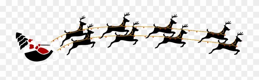 Free Santa With Eight Reindeer.