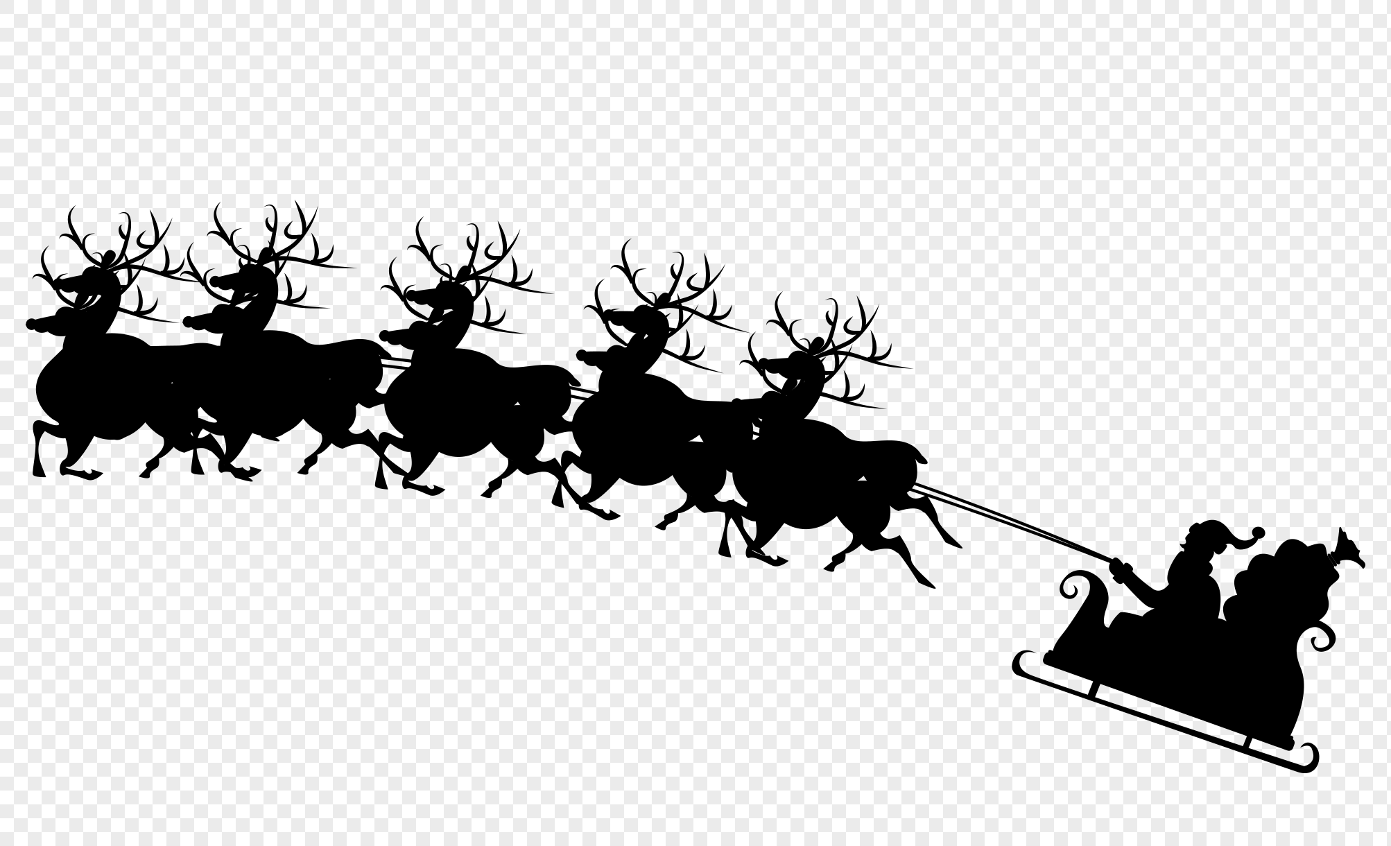 Santa Claus With Reindeer Png & Free Santa Claus With.