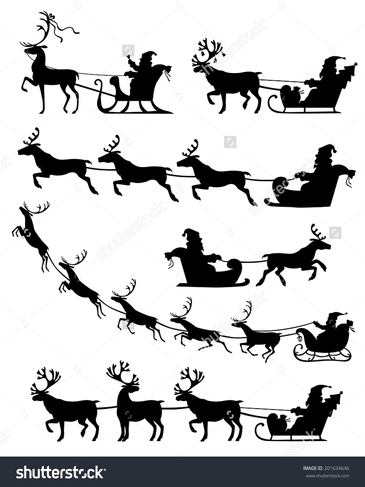 how to draw a reindeer flying
