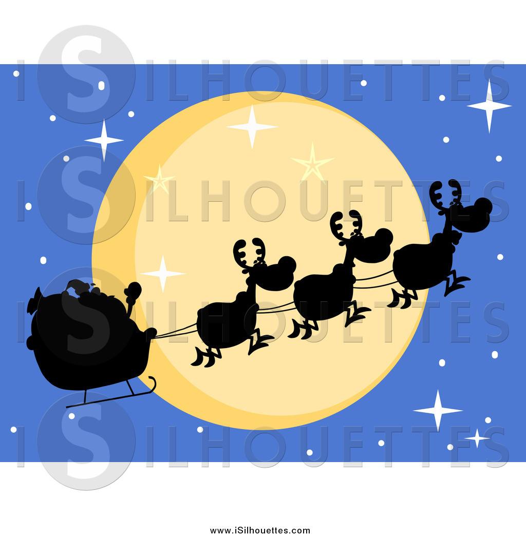 Royalty Free Stock Silhouette Designs of Santas.
