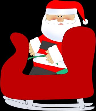 Santa Sleigh Clip Art.