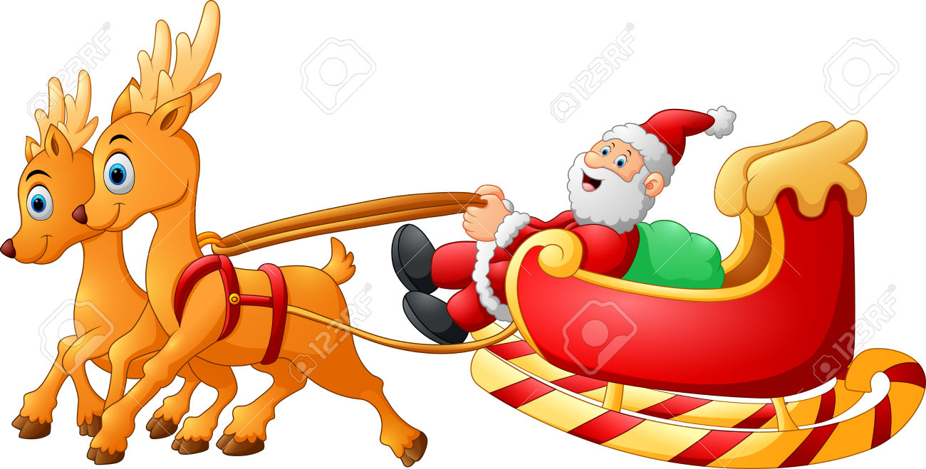 10,266 Sleigh Of Santa Stock Illustrations, Cliparts And Royalty.