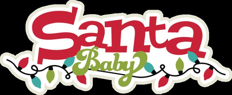 Santa Baby SVG scrapbook title santa svg title christmas.