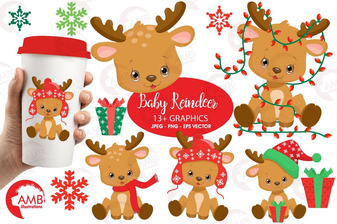 Santas Baby Reindeer AMB.