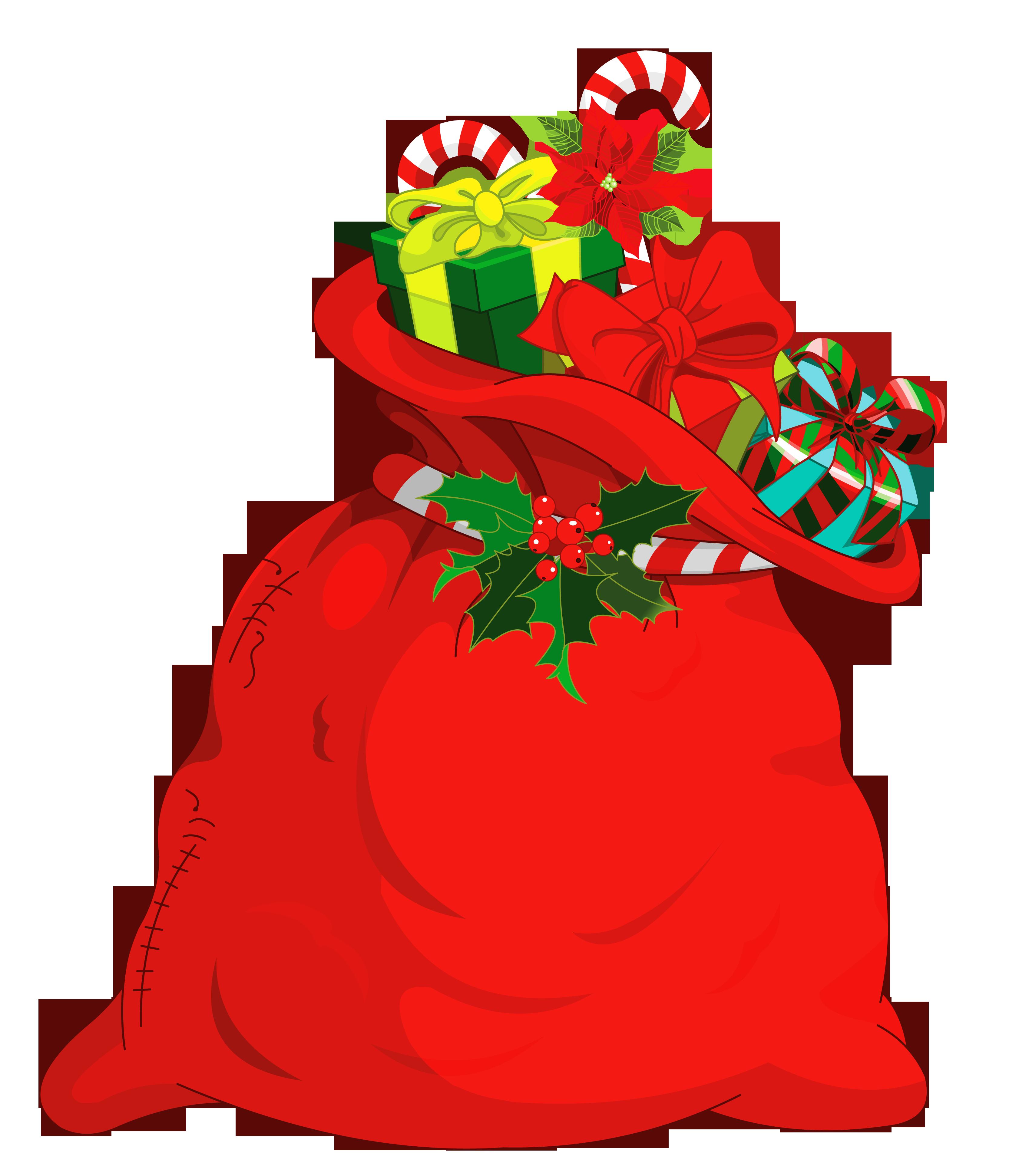 Christmas Santa Bag PNG Picture.