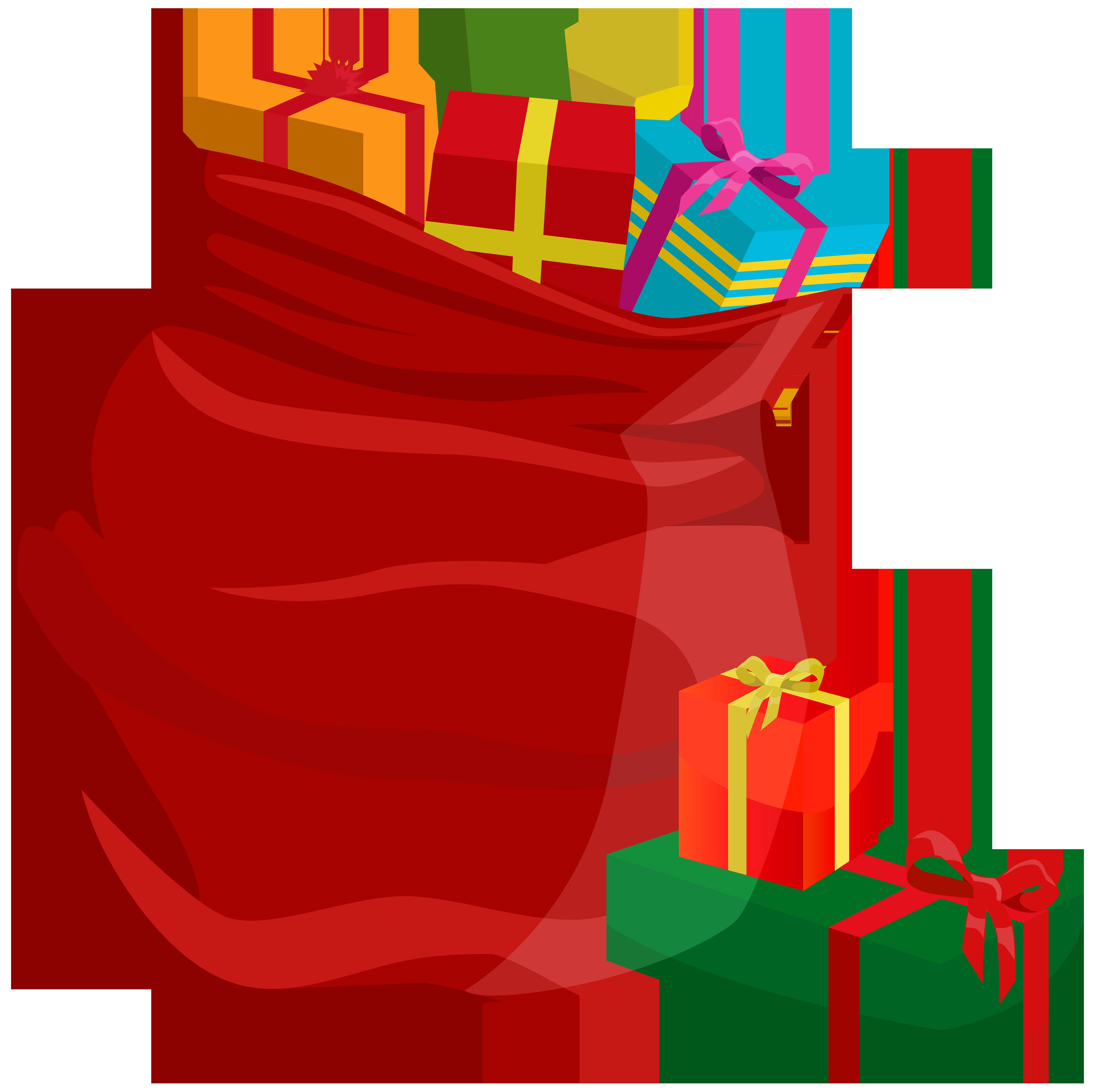 Santa Bag PNG Clip Art.