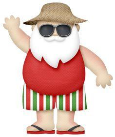 Santa Vacation Clipart Png.
