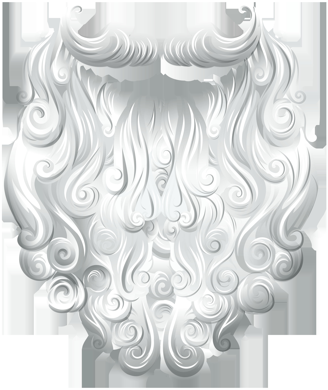 Santa Claus Beard Transparent Clip Art Image.