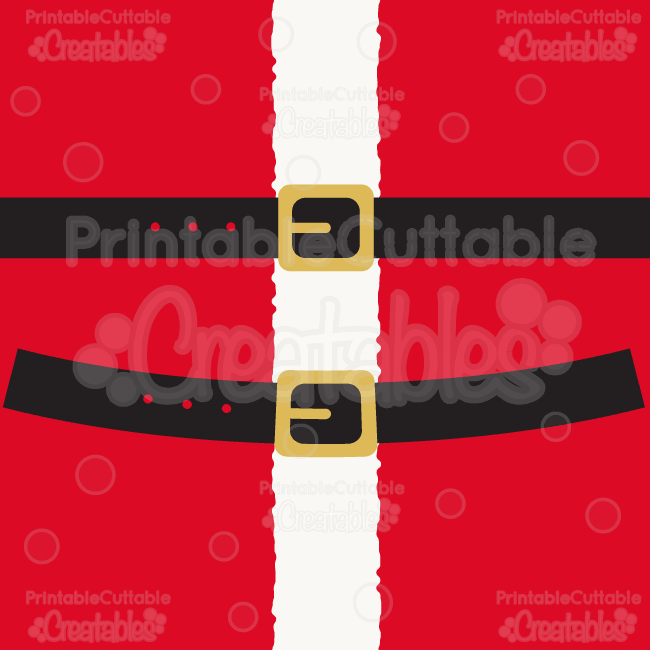 Santa\'s Belt SVG File & Clipart.