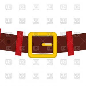 Belt Santa Claus Vector Clipart.