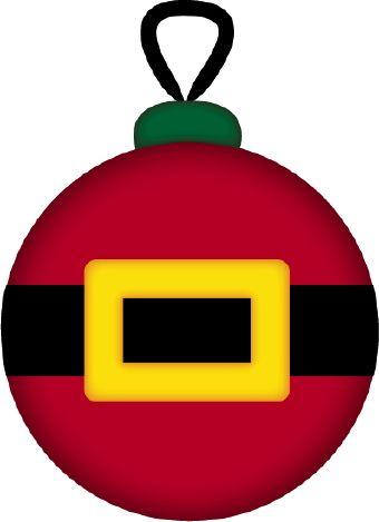 CHRISTMAS SANTA BELT ORNAMENT CLIP ART.
