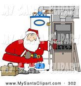 Royalty Free Stock Santa Designs of Heaters.