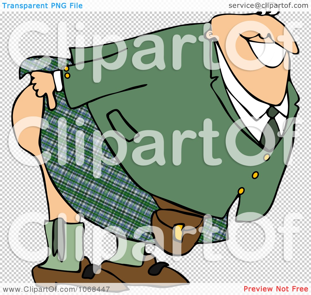 Clipart Man Mooning And Bending Over.
