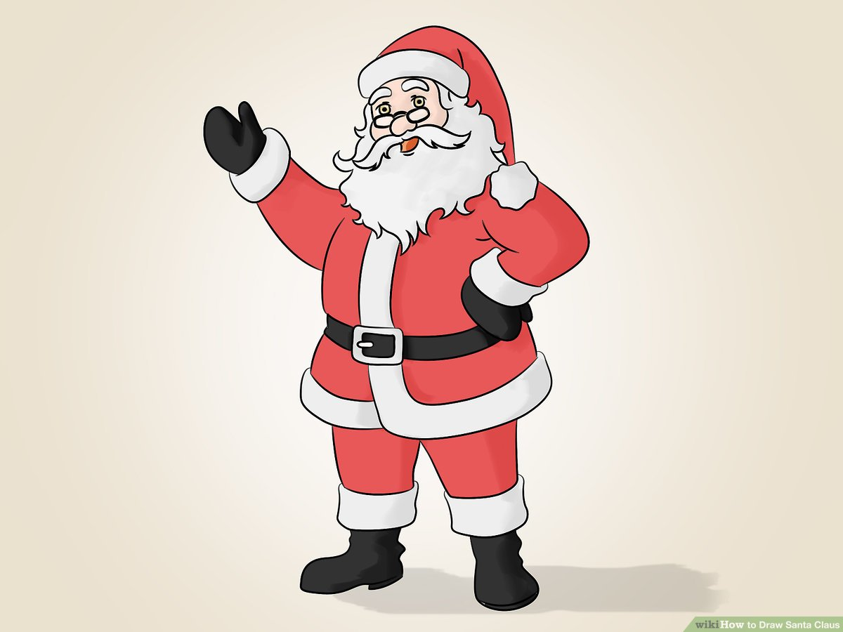 How to Draw Santa Claus: 14 Steps (with Pictures).