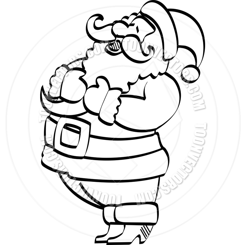 Santa black and white clipart 1 » Clipart Station.